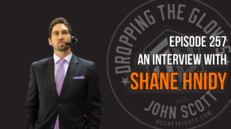 Dropping The Gloves Episode 257: Interview with Shane Hnidy, VGK Broadcaster