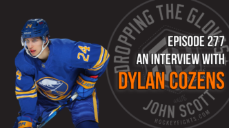 Dropping The Gloves Episode 277: Interview with Dylan Cozens, Buffalo Sabres
