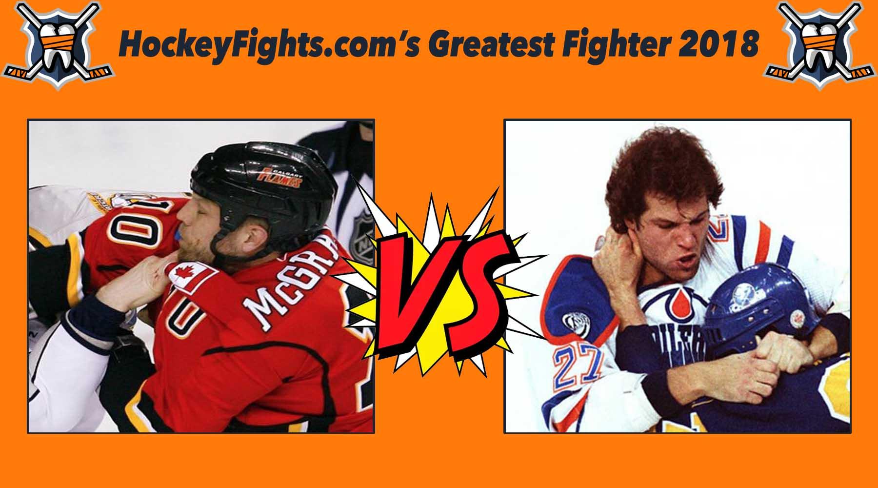 HockeyFights.com Fantasy Fighting Championship Bracket: Round Two – Day Three