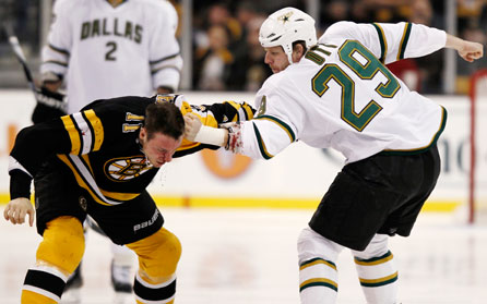 Stars, Bruins Don't Waste Time