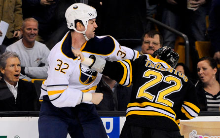 John Scott Drops Shawn Thornton, Blues and Jackets Rivalry Ramping Up