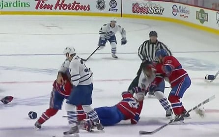 Leafs-Habs Boils Over, Grabovski in the clear