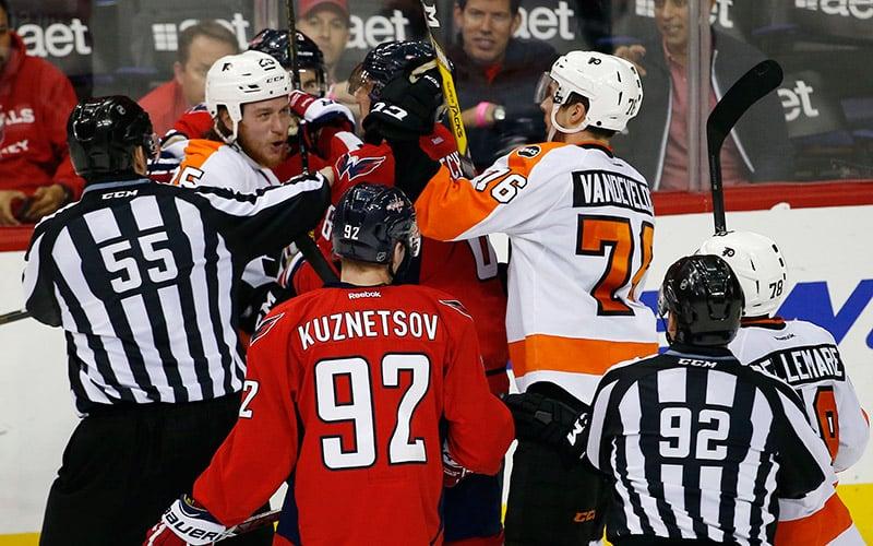 Flyers-Capitals Series Continues
